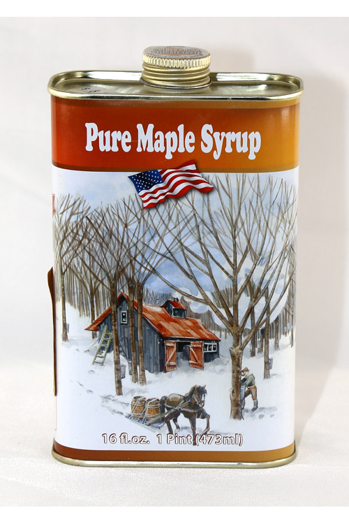 Tin#3 - Tin Container - Pure Maple Syrup - Pint - 16 oz