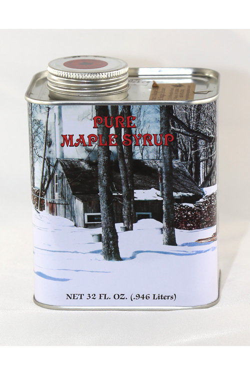 Tin#2 - Tin Container - Pure Maple Syrup - Quart - 32 oz