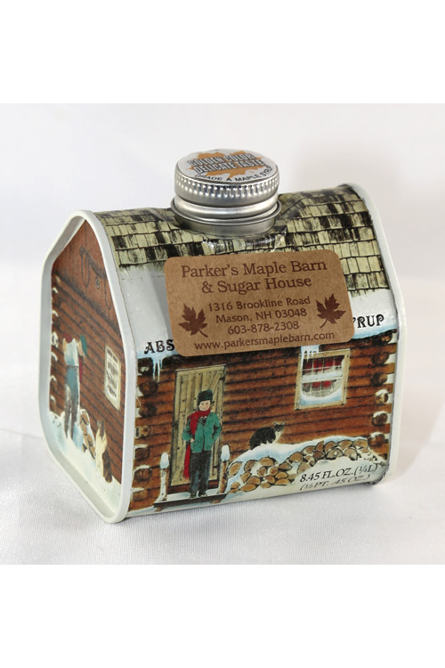 Tin#8 - LOG CABIN Tin Container - Pure Maple Syrup - 8.45 ounces