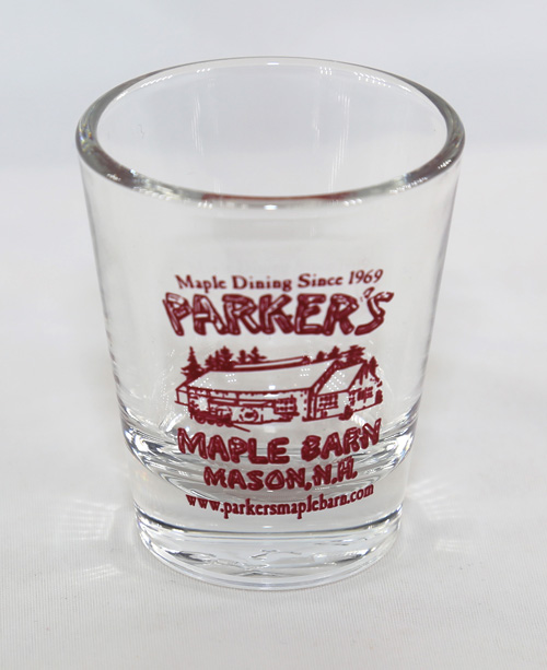 """Parker\'s Maple Barn\"" Shot Glass"
