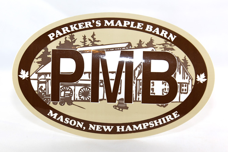 """Parker's Maple Barn"" auto sticker"