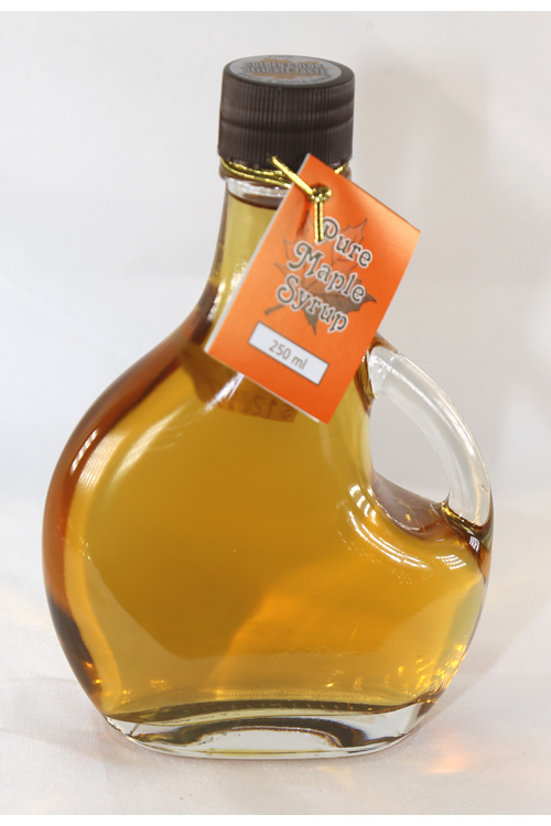 100% Pure Maple Syrup - 8.45 Ounce [250ml] Glass Jar (Plain)