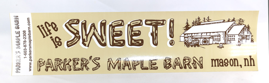 """Parker's Maple Barn"" Bumper Sticker"