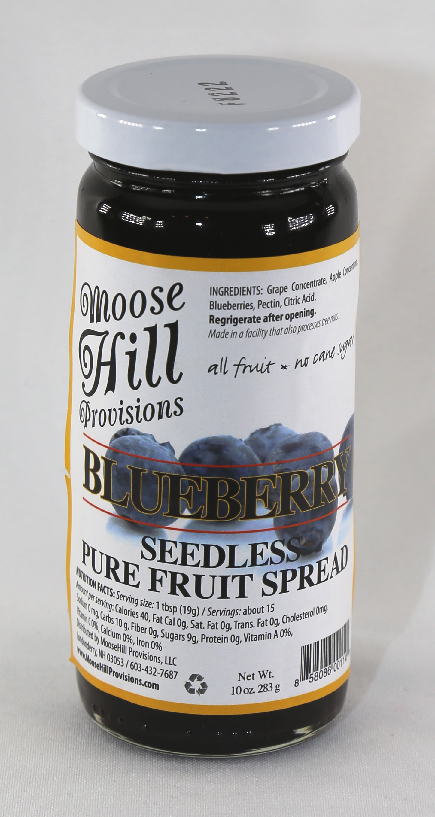 Moose Hill Blueberry Fruit Spread