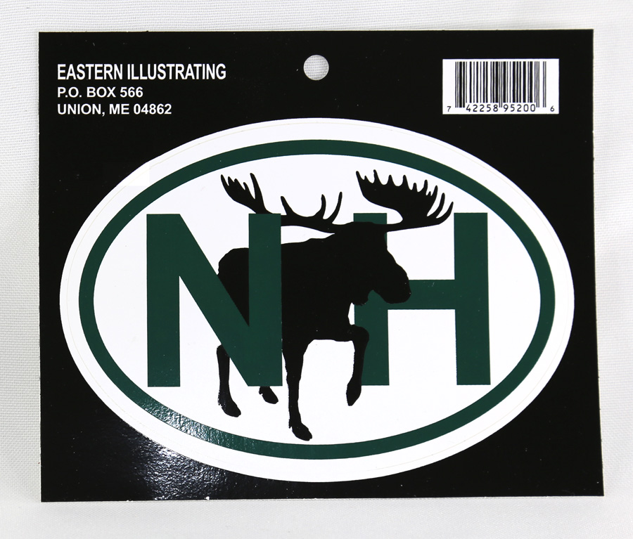 New Hampshire Auto Decal - Moose