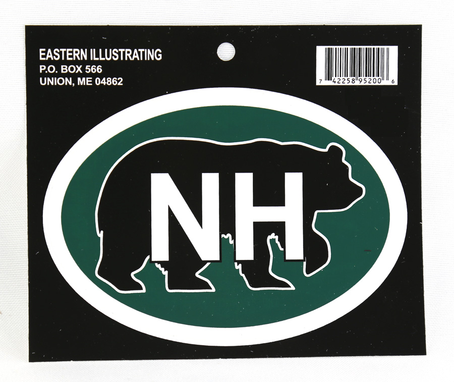 New Hampshire Auto Decal - Bear