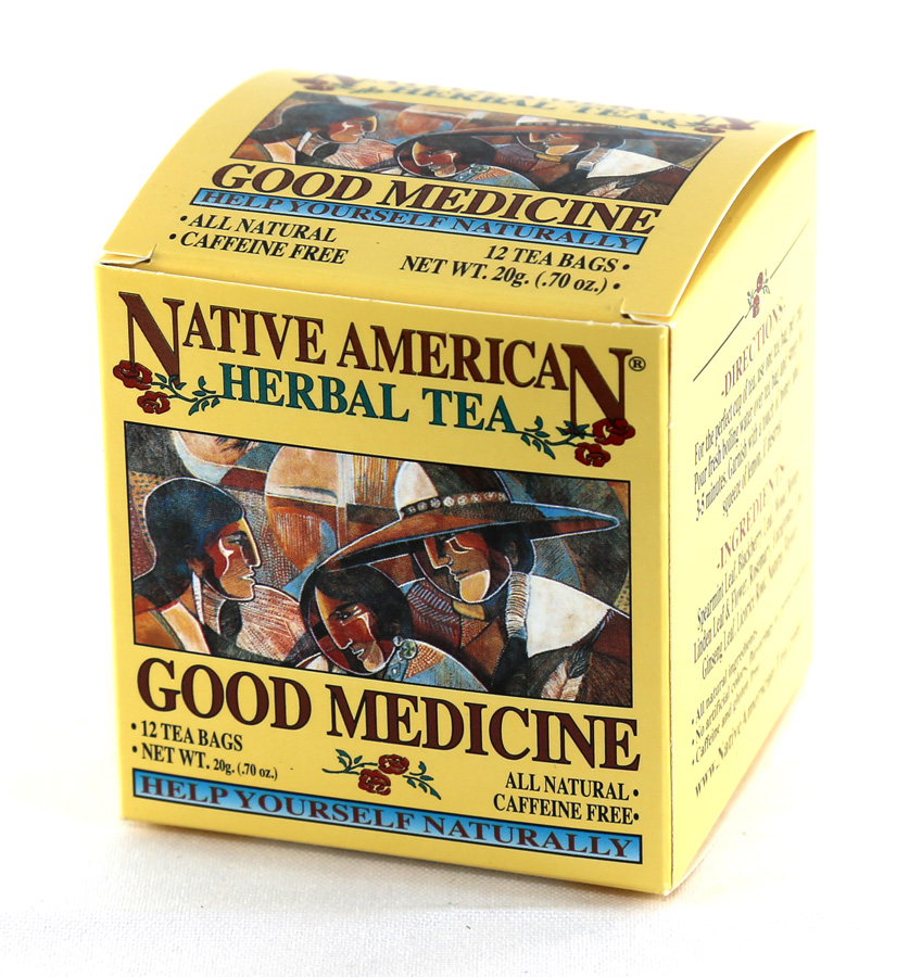 Native American Herbal Tea - Good Medicine - 12 Tea Bags