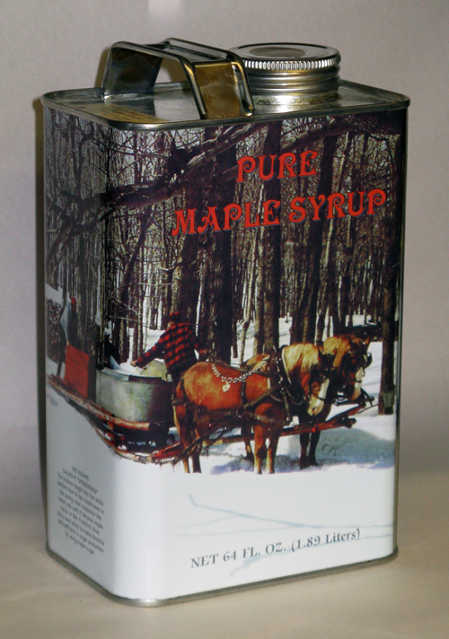 Tin#1 - Tin Container - Pure Maple Syrup - Half Gallon - 64 oz