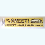 Parkers Maple Barn - Bumper Sticker